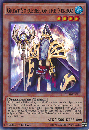 Great Sorcerer of the Nekroz - THSF-EN011 - Super Rare - 1st Edition