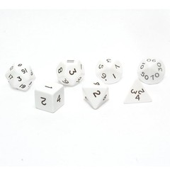 Jumbo Dice Set 7 Polyhedral White 28mm