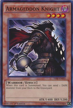 Armageddon Knight - THSF-EN035 - Super Rare - 1st Edition