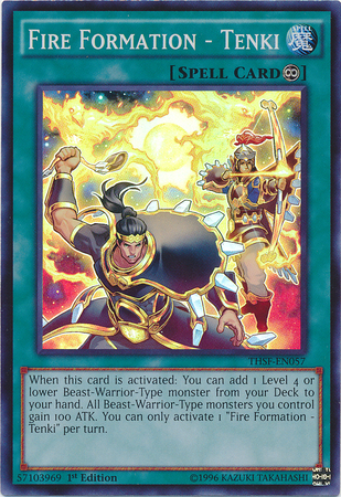 Fire Formation - Tenki - THSF-EN057 - Super Rare - 1st Edition