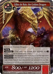 Gilles de Rais, the Golden Dragon - CMF-024 - SR - 1st Printing on Channel Fireball