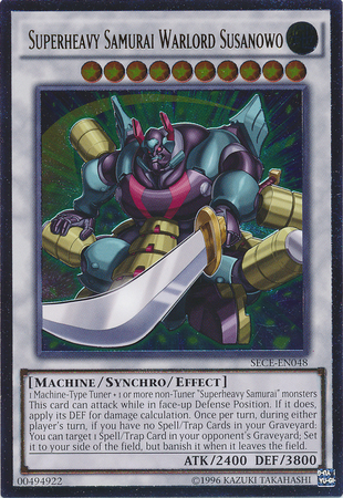Superheavy Samurai Warlord Susanowo - SECE-EN048 - Ultimate Rare - Unlimited Edition
