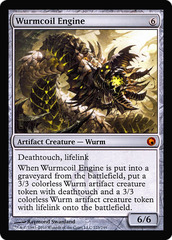 Oversized Scars of Mirrodin Promo - Wurmcoil Engine