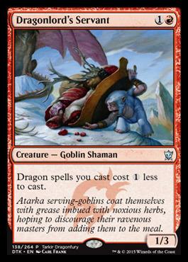 Dragonlords Servant - Tarkir Dragonfury Promo
