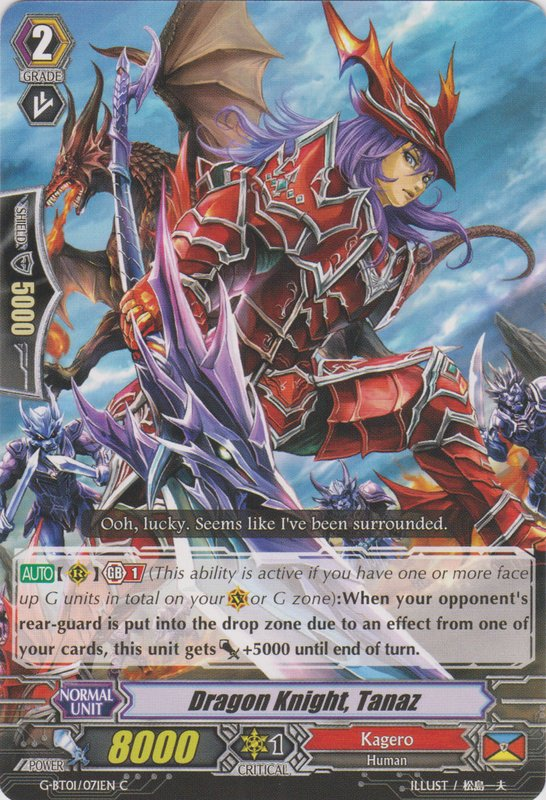 Dragon Knight, Tanaz - G-BT01/071EN - C