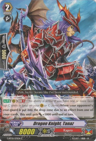 Dragon Knight, Tanaz - G-BT01/071EN - C