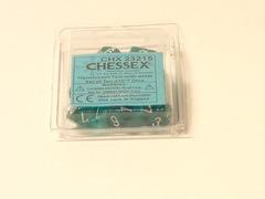 10 Translucent Teal w/white D10 Dice Set - CHX23215