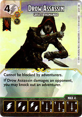Drow Assassin - Greater Humanoid (Die & Card Combo)