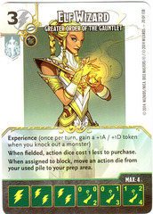Elf Wizard - Greater Order of the Gauntlet (Die & Card Combo)