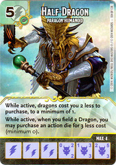 Half-Dragon - Paragon Humanoid (Die & Card Combo)