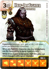 Half-Orc Fighter - Paragon Zhentarim (Die & Card Combo)