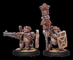Hammerfall High Shield Gun Corps Officer and Standard Bearer