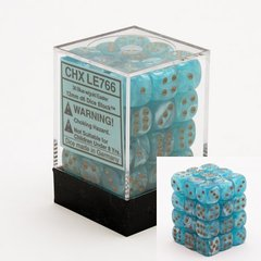 36 Blue w/gold Easter 12mm D6 Dice Block - CHXLE766