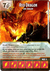Red Dragon - Epic Dragon (Die & Card Combo)