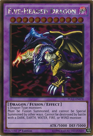 Five-Headed Dragon - PGL2-EN078 - Gold Rare - 1st Edition