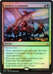 Atarka's Command (Dragons of Tarkir Prerelease Foil)
