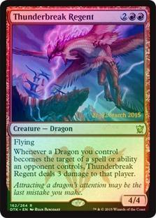 Thunderbreak Regent (Dragons of Tarkir Prerelease Foil 21-22 March 2015)