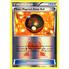 Team Magma's Great Ball - 31/34 - Uncommon - Reverse Holo on Channel Fireball
