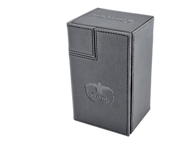 Ultimate Guard FlipNTray Deck Case 80+ Standard Size Xenoskin Grey
