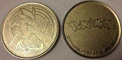 Silver Lugia Metal CR/GF 2001 Wizards Collectable Coin