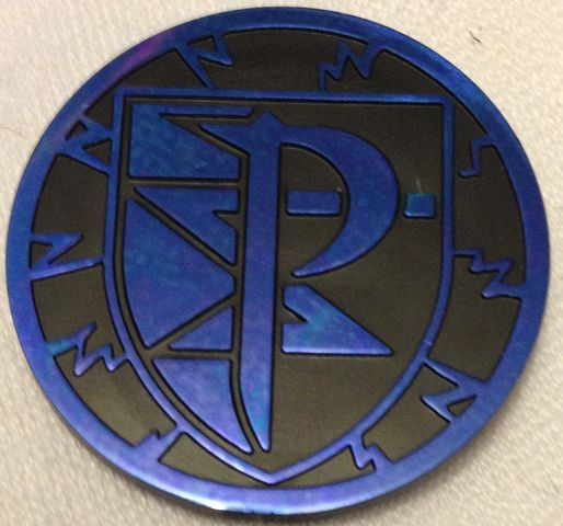 Black and Blue Plasma Storm Collectable Coin