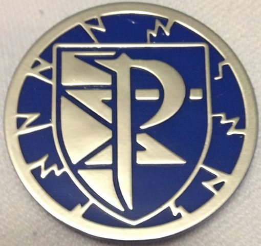 Blue and Silver Plasma Storm Collectable Coin