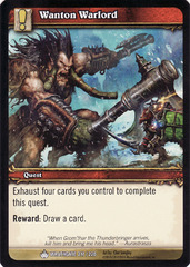 Foil Saurfang the Younger Kor/'kron Warlord World of Warcraft WoW TCG Promo