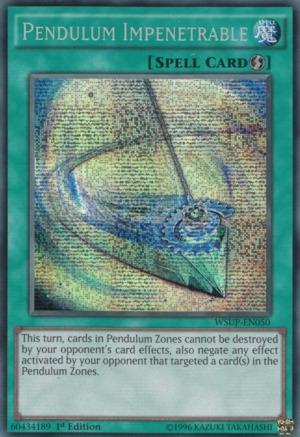 Pendulum Impenetrable - WSUP-EN050 - Prismatic Secret Rare - 1st Edition