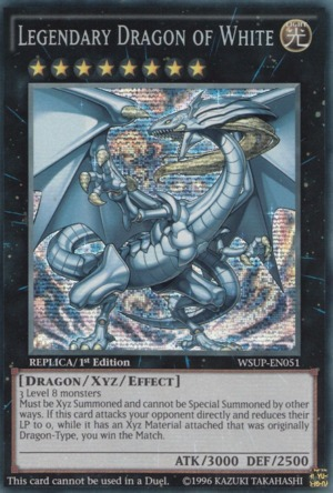 Legendary Dragon of White - WSUP-EN051 - Prismatic Secret Rare - 1st Edition