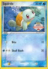 Squirtle 63/100 Non-Holo Promo - 2007 City Championships