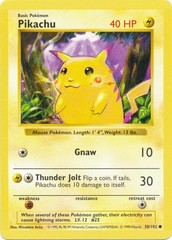Pikachu - 58/102 - Common - Shadowless Edition (Red Cheek Misprint)