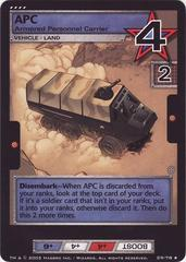 APC, Armored Personnel Carrier