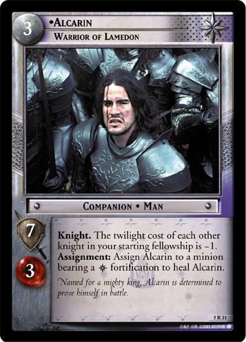 Alcarin, Warrior of Lamedon