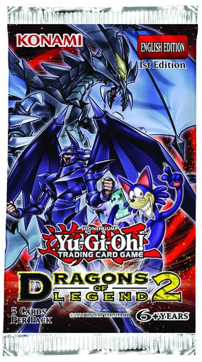 Yu-Gi-Oh Dragons of Legend #2 1st Edition Booster Pack