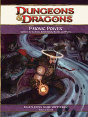 D&D 4E Psionic Power HC