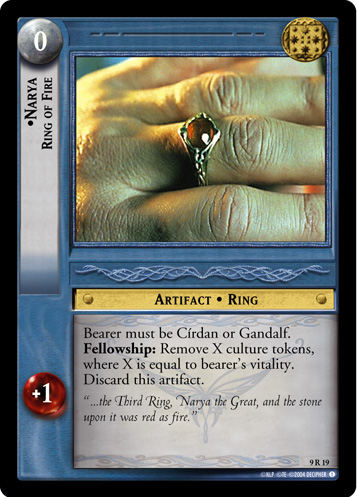 Lord Of The Rings CCG Reflections Foil Card  9R+43 Ring Of Ire