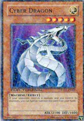 Cyber Dragon - DT01-EN009 - Rare Parallel Rare - Duel Terminal