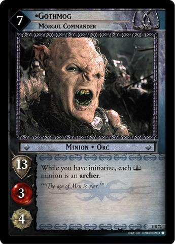 LOTR: Gothmog Siege of Gondor Lord of the Rin Mint//Near Mint Morgul Commander