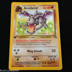 Aerodactyl - 1/62 - Holo Rare - 1st Edition - Prelease on Channel Fireball