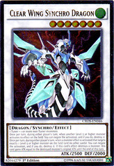 Clear Wing Synchro Dragon - CROS-EN046 - Ultimate Rare - 1st Edition on Channel Fireball
