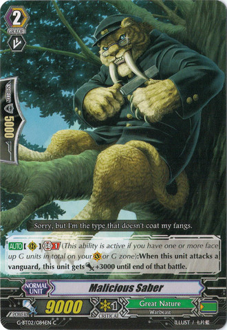 Malicious Sabre - G-BT02/084EN - C