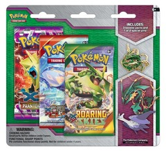 Pokemon XY6 Roaring Skies 3-Booster Blister Pack - Mega Rayquaza Pin