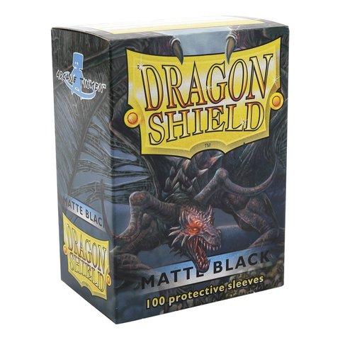 Dragon Shield - Matte Black 100 Count Standard Sleeves