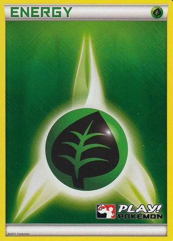 Grass Energy Unnumbered Crosshatch Holo Promo - 2011 Play! Pokemon