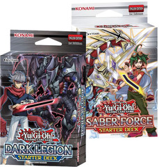 Yu-Gi-Oh Saber Force and Dark Legion Starter Decks