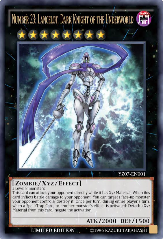 Number 23: Lancelot Dark Knight of the Underworld - YZ07-EN001 - Ultra Rare - Limited Edition