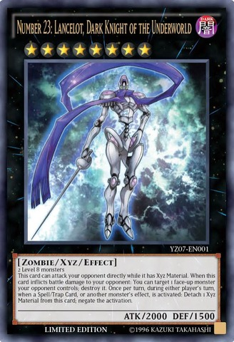 Number 23: Lancelot Dark Knight of the Underworld - YZ07-EN001 - Ultra Rare - Limited Edition