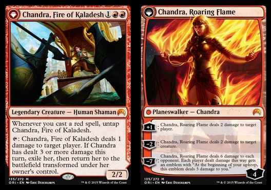 Chandra, Fire of Kaladesh // Chandra, Roaring Flame - Foil