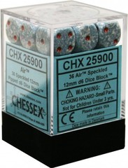 36 12mm Air Speckled D6 Dice - CHX25900 on Channel Fireball
