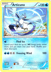 Articuno - 16/108 - Cracked Ice Holo Aurora Blast Theme Deck Exclusive on Channel Fireball